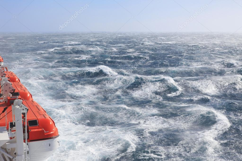 Life Boats and rough seas