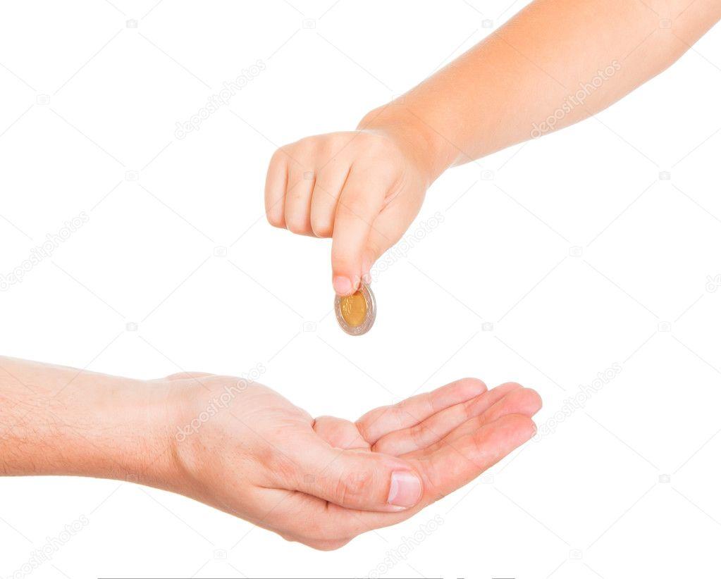 Almosen Geben