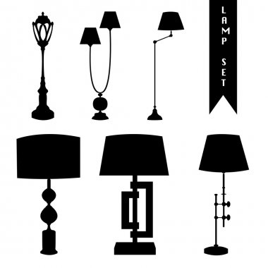 Floor lamp silhouette