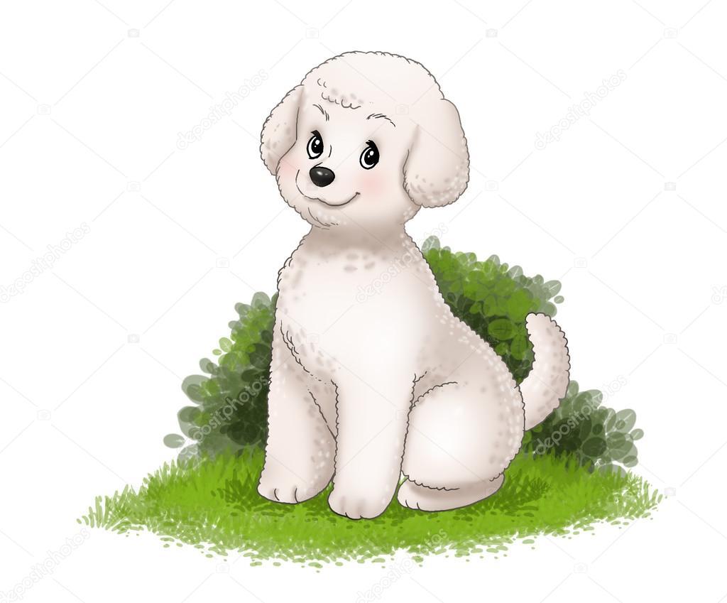 Cute White Puppy Stock Photo C Aditgalih 90450110