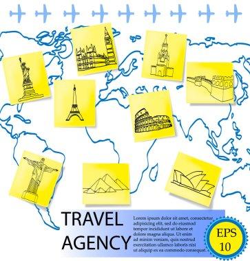 travel agency. vector illustration