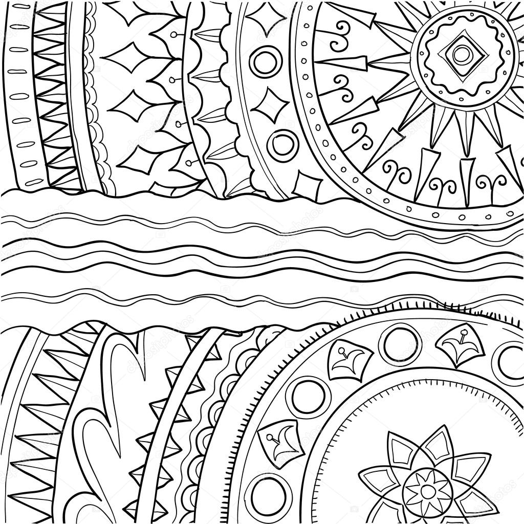 Black and white ornament. Hand drawn pattern