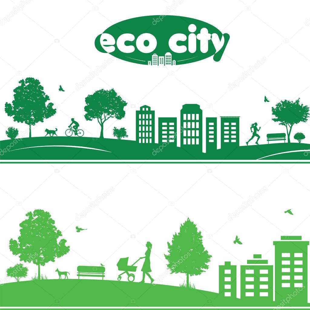 Ecology concept of cityscapes