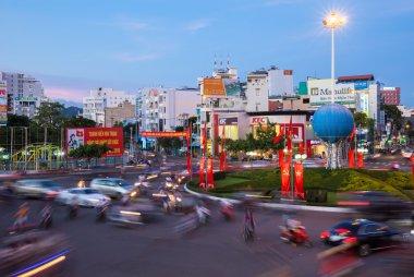 Dusk view of Nha Trang city, Vietnam