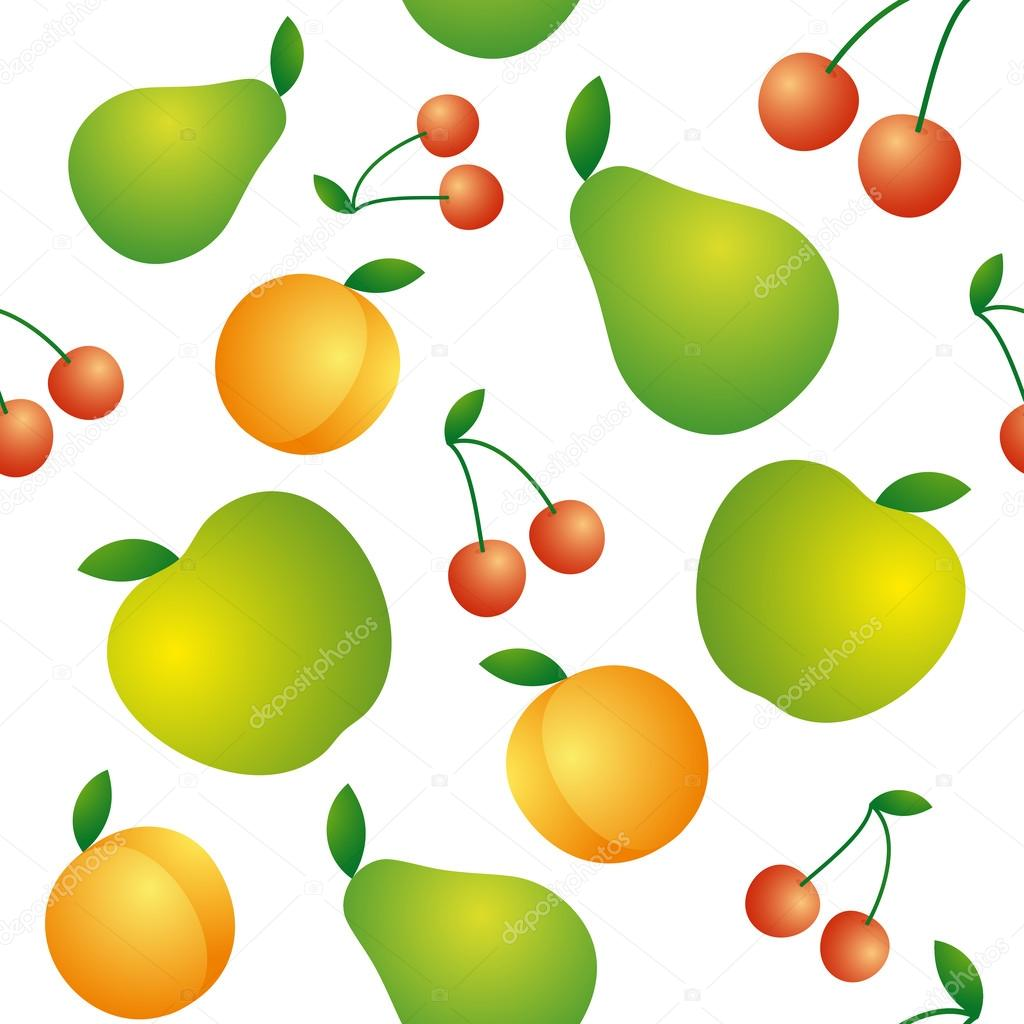 Seamless background of beautiful and juicy fruits
