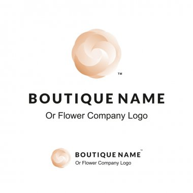 Beautiful Logo with Flower for Boutique or Beauty Salon or Flowers Company