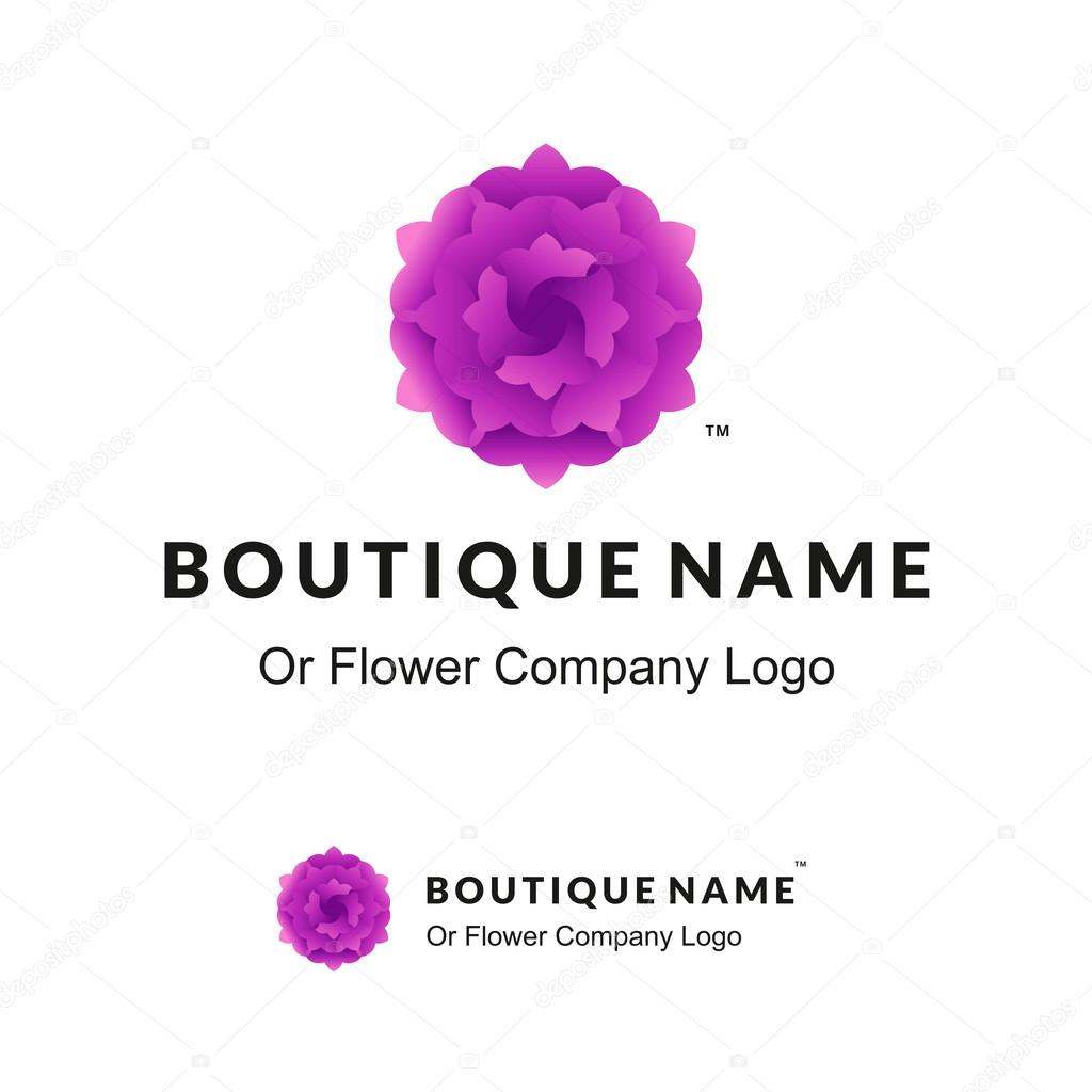 Beautiful Logo with Lilac Flower for Boutique or Beauty Salon or Flowers Company