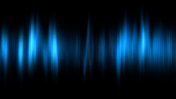 Photo Abstract animated background with audio waveform. Seamless loop. Blue tint. More color options available in my portfolio.