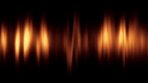 Animované pozadí abstraktní s zvukové vlnění. Bezešvá smyčka. Zlatý odstín. Další barevné možnosti dostupné v mém portfoliu