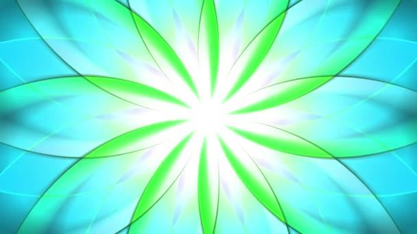 Abstraktní světlé pohybující kaleidoskop květinový vzor. Barevné pozadí. Bezešvá smyčka animace. Další barevné možnosti dostupné v mém portfoliu