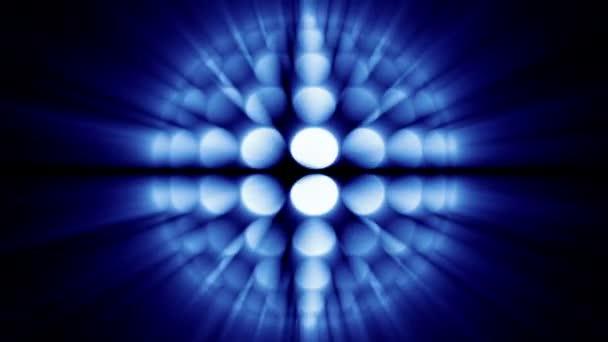Abstraktní zářící energie míč. Rotující animace. Bezešvá smyčka. Modrý odstín. Další barevné možnosti dostupné v mém portfoliu