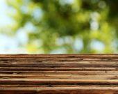 pozadí s dřevěný stůl