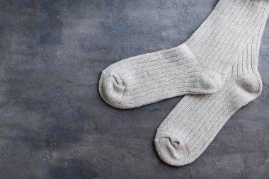 New socks on  table