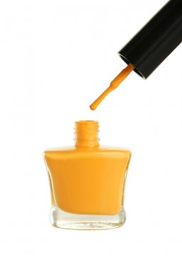 Yellow nail polish bottle