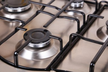 Closeup gas stove