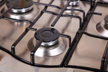 Closeup gas stove