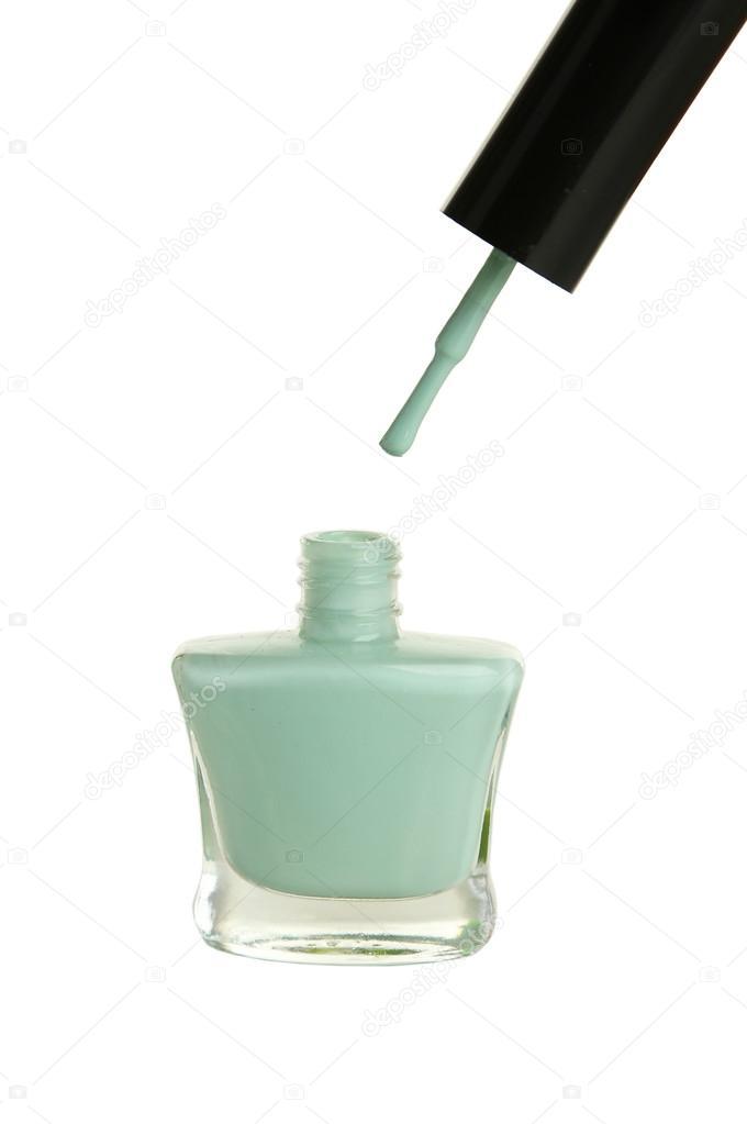 Esmalte de uñas botella de menta — Foto de stock © 5seconds #63091555