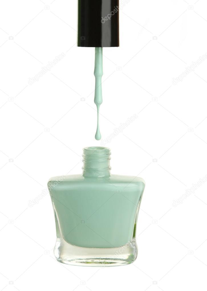 Esmalte de uñas botella de menta — Foto de stock © 5seconds #63094257