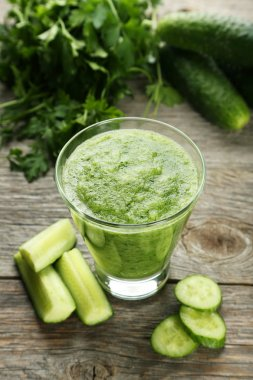 Glass of cucumber juice