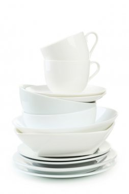 Empty white utensils