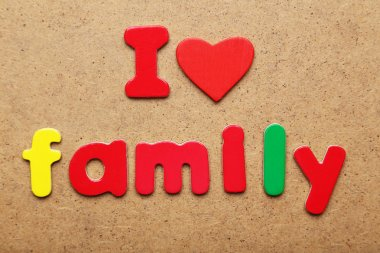 I love family words