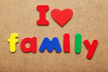 I love family words made of colorful magnets