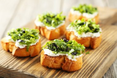 Tasty fresh bruschetta
