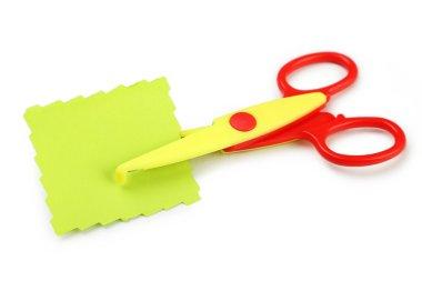 Figured scissors  with paper