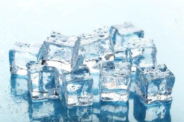 Ice cubes close up