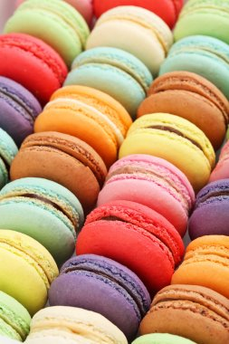 French colorful macaroons