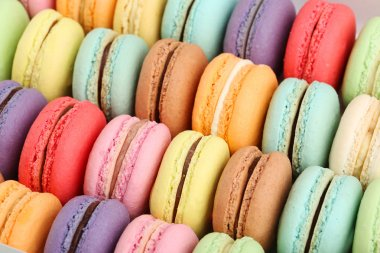 tasty delicious macaroons