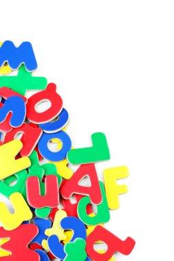 Magnetic plastic letters