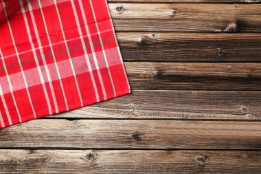 Red napkin on  table