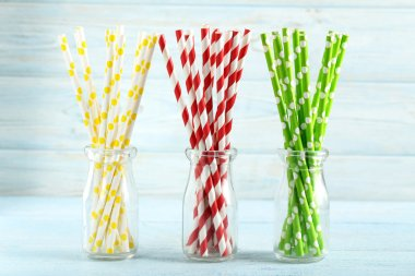Striped drink straws