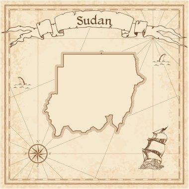 Sudan old treasure map.