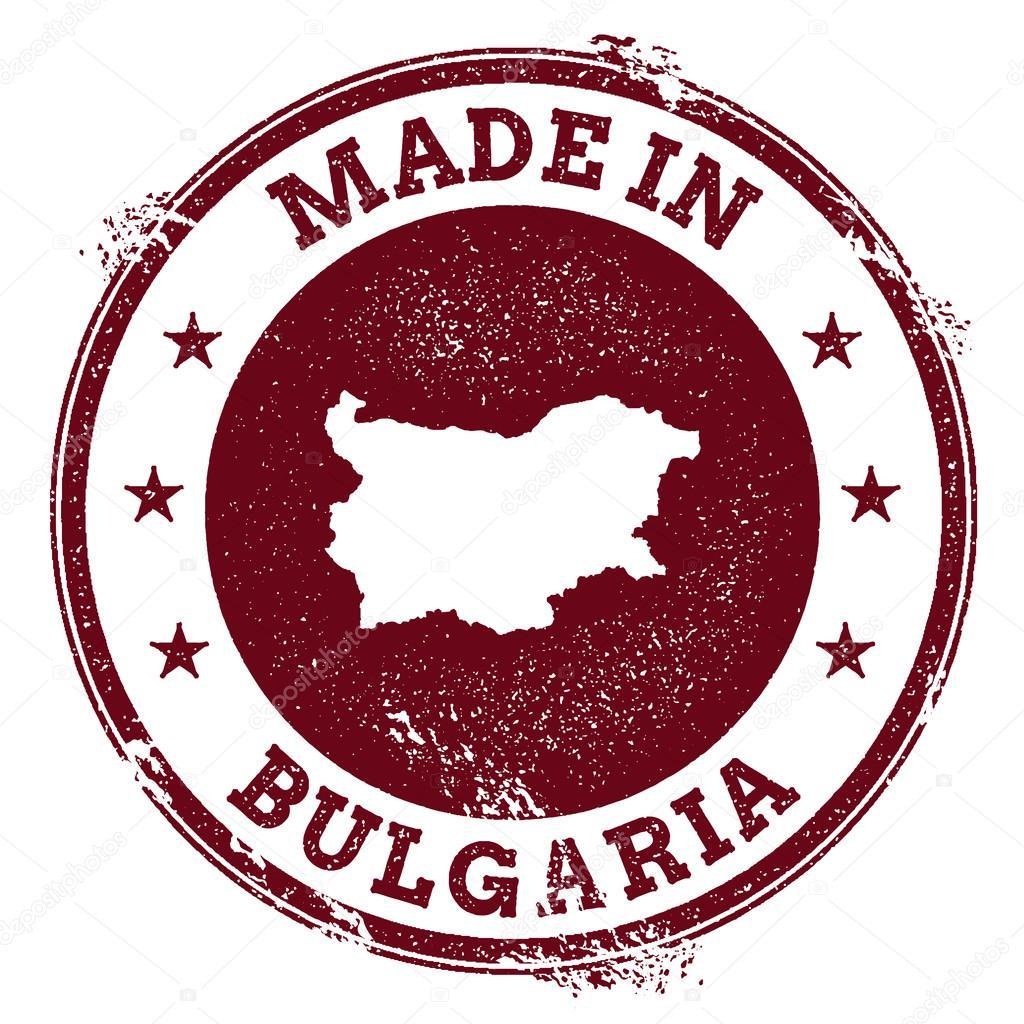 Sceau de vecteur de Bulgarie. Timbre de carte Vintage pays. Grunge rubber  stamp avec Made dans le texte de la Bulgarie et carte, illustration  vectorielle ... a18df9c99c1