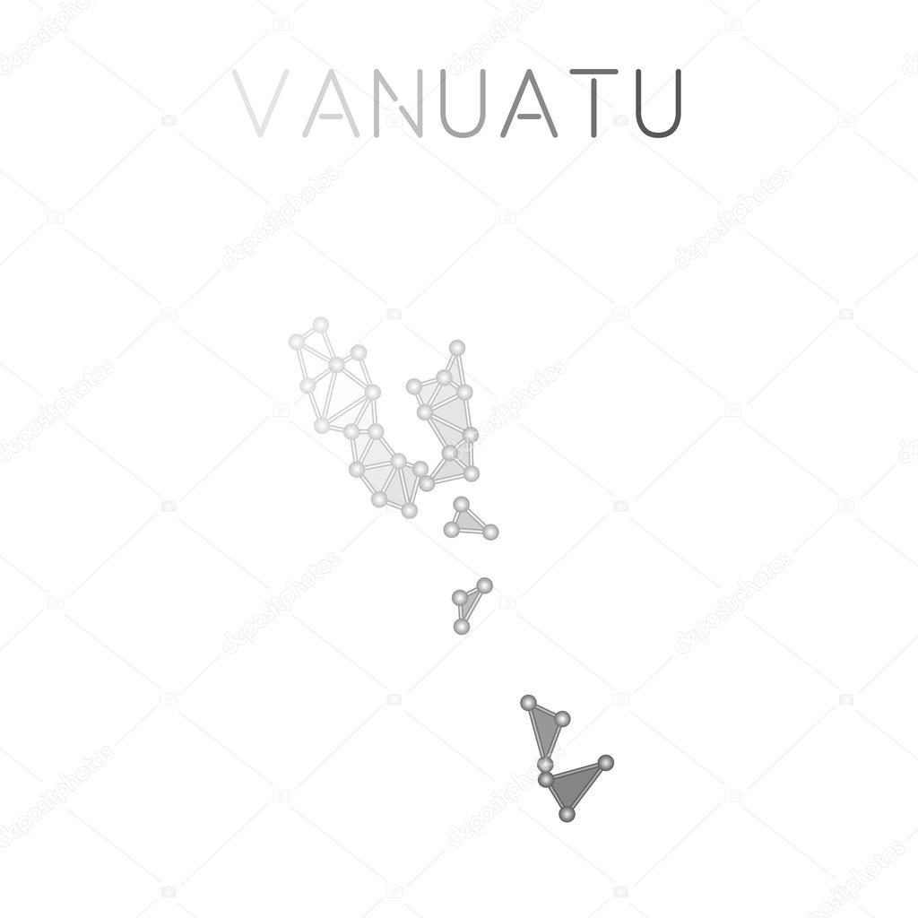 Vanuatu Polygonal Vector Map Stock Vector Gagarych - Vanuatu map download