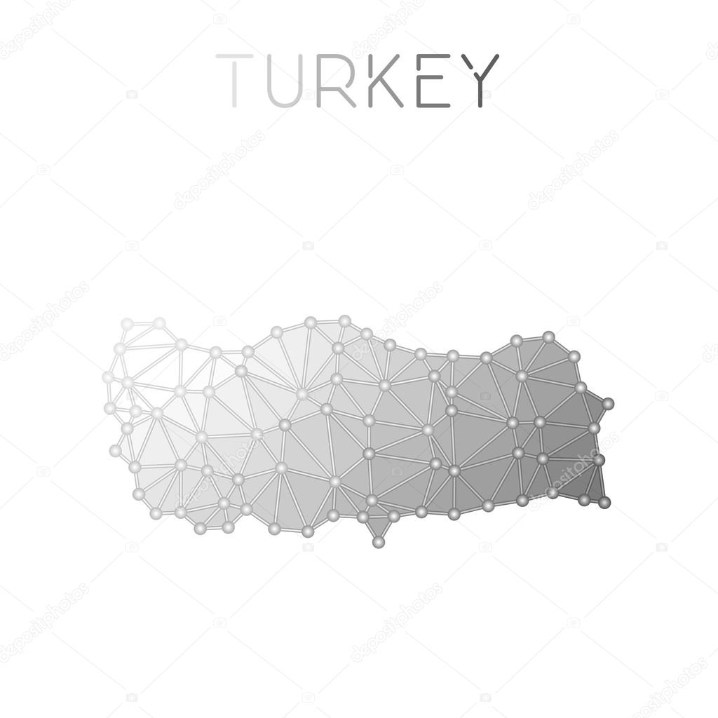 Turkey polygonal vector map. — Stock Vector © gagarych #123483142