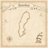 Sweden Map Template Stock Vector Surfsupvectorgmailcom - Sweden map template