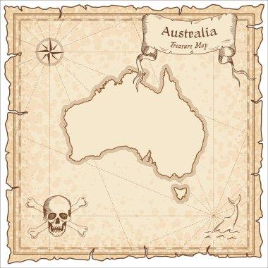 Australia old pirate map.