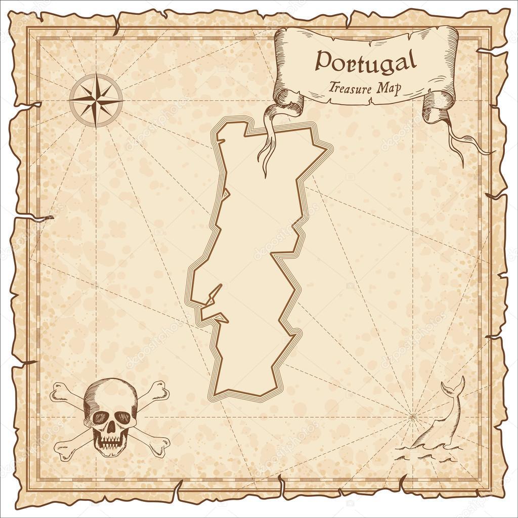 portugal mapa antigo Mapa do Portugal antigo pirata — Vetor de Stock © gagarych #123666704 portugal mapa antigo
