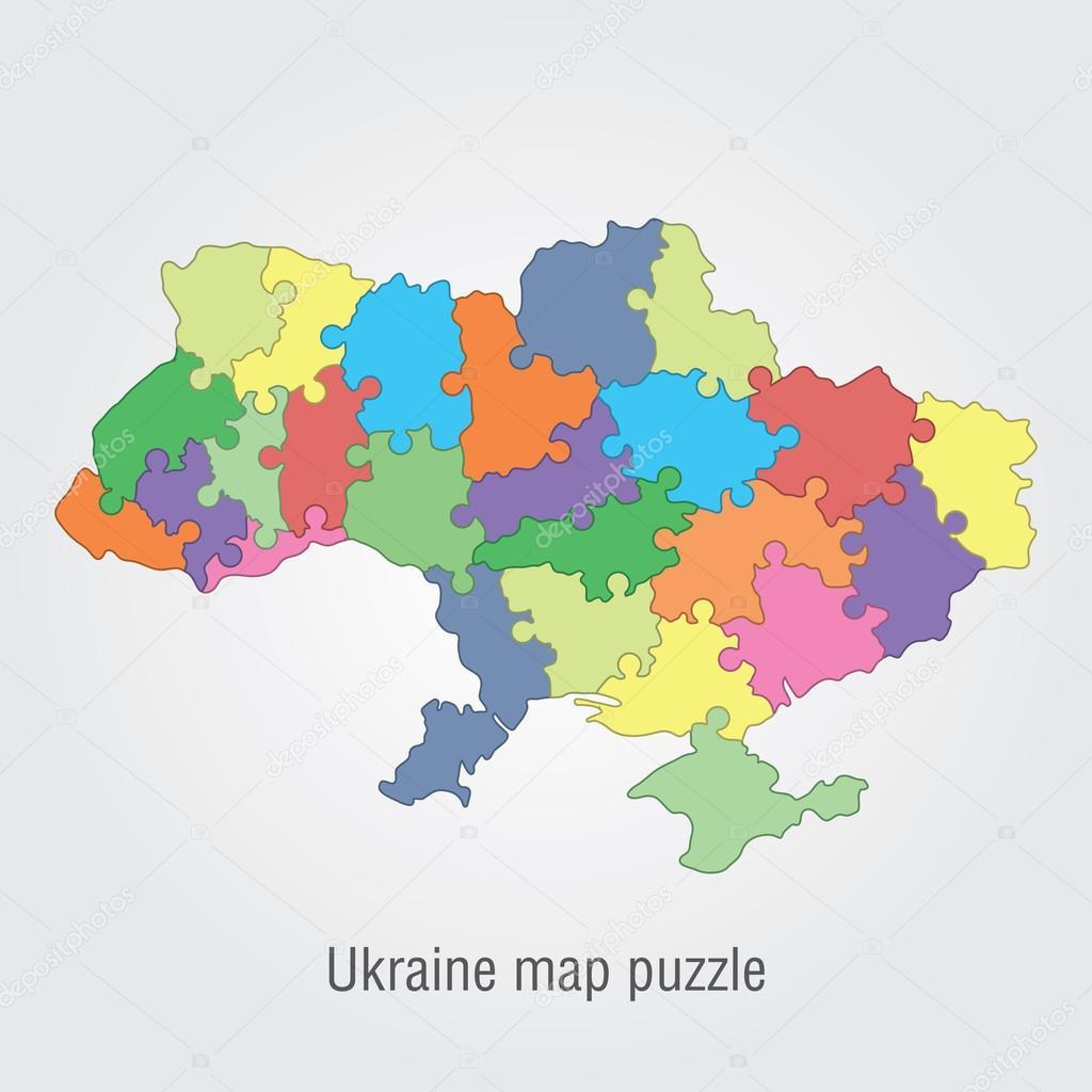 Ukraine administrative map puzzle stock vector snyde 97787288 ukraine administrative map puzzle stock vector gumiabroncs Choice Image