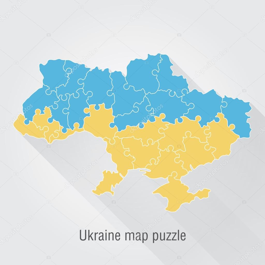 Ukraine administrative map puzzle stock vector snyde 97787410 ukraine administrative map puzzle stock vector gumiabroncs Images