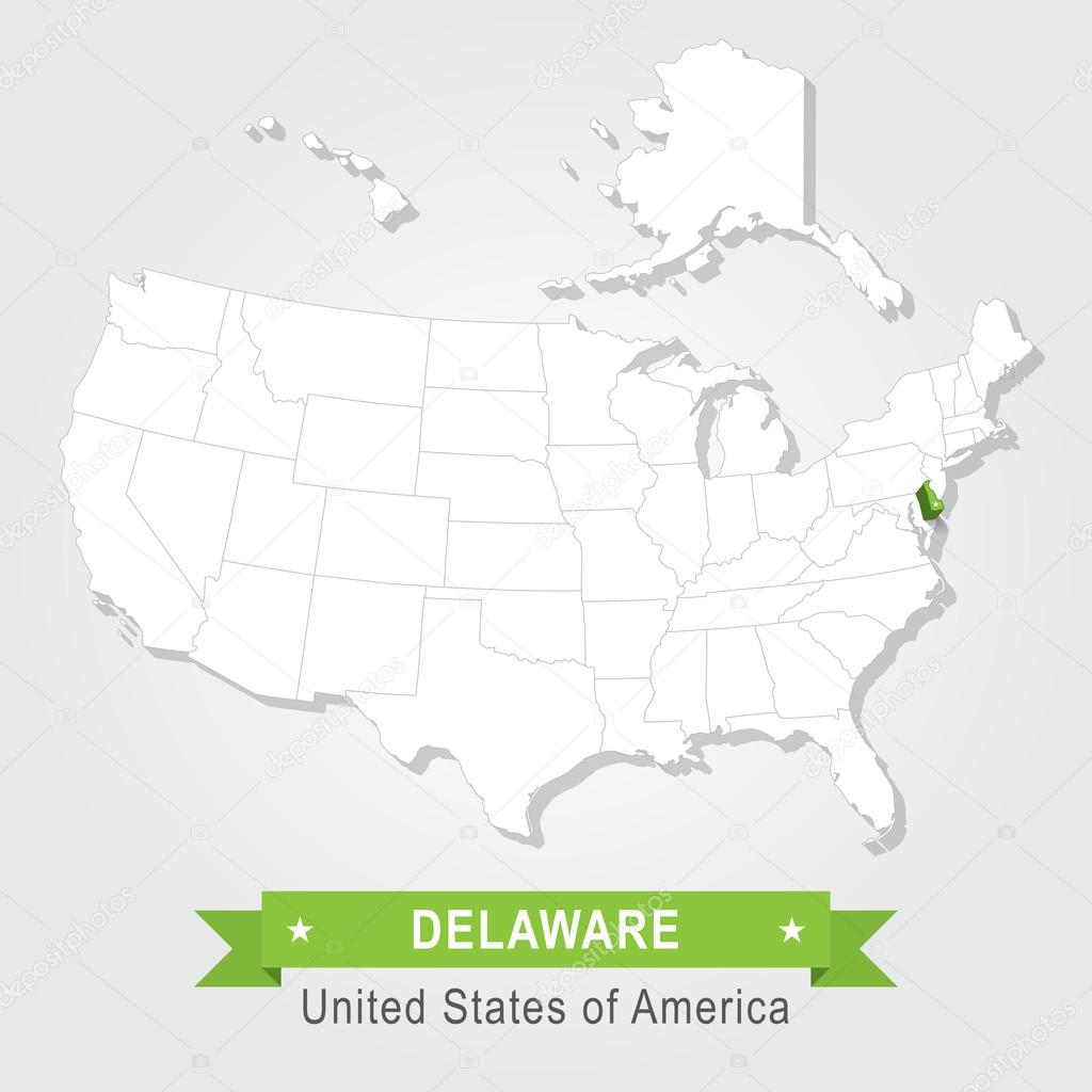 Delaware state. USA administrative map. — Stock Vector © Snyde #97812360