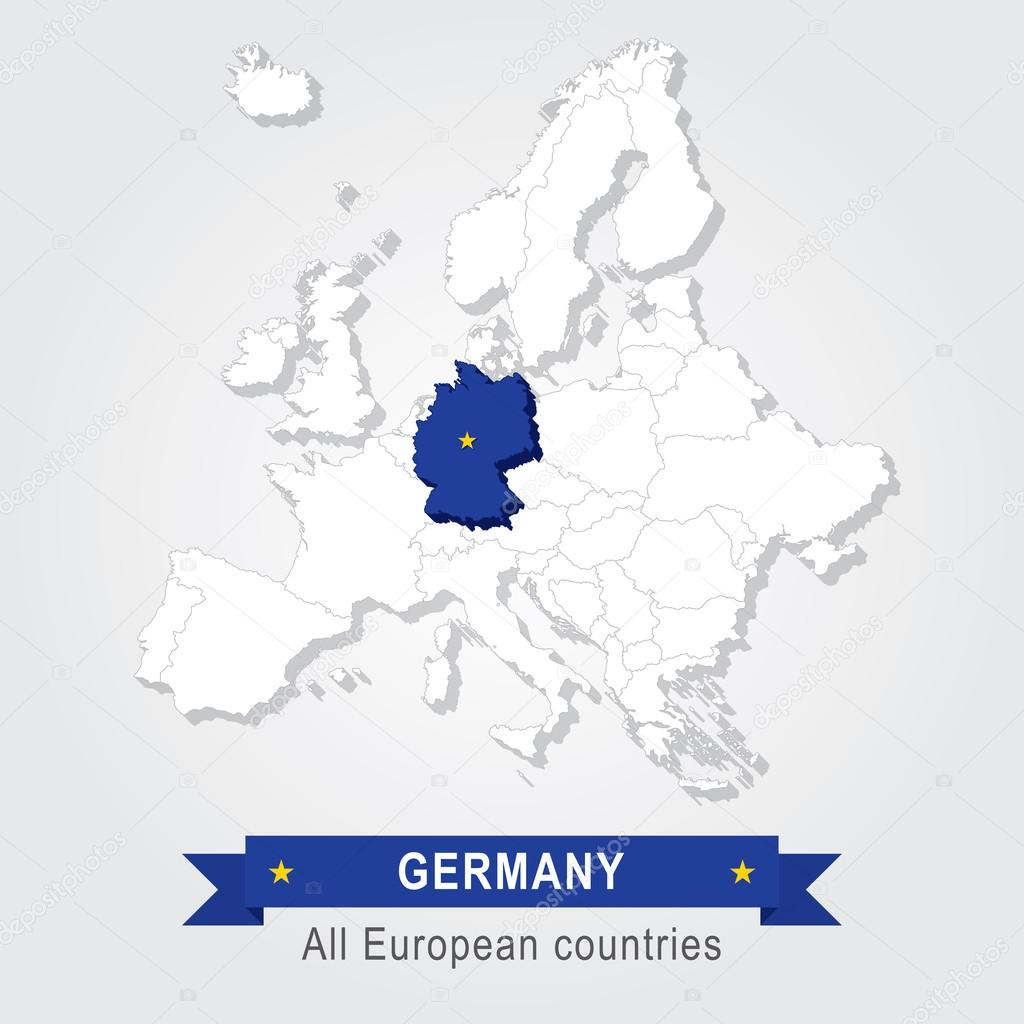 Germany Europe administrative map Stock Vector Snyde 98289976