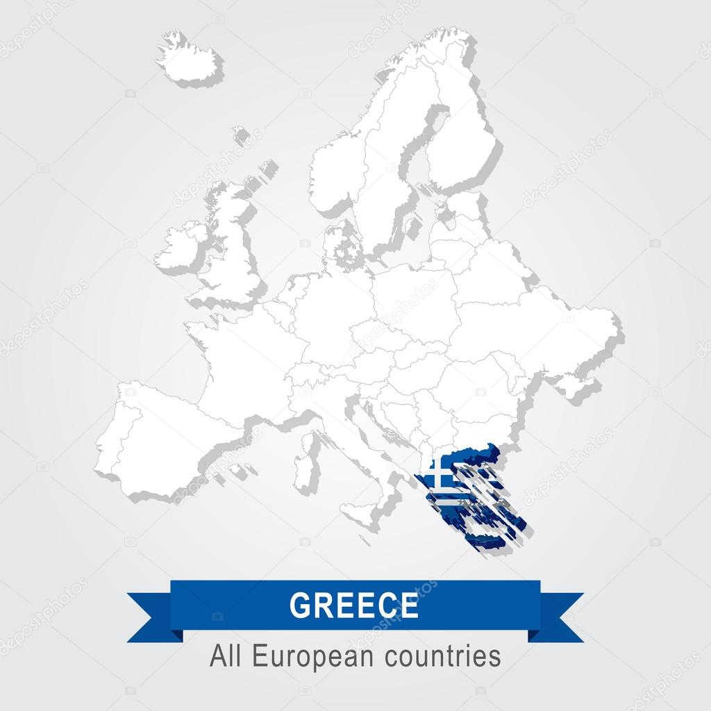 Greece Europe Administrative Map Stock Vector C Snyde 98294342