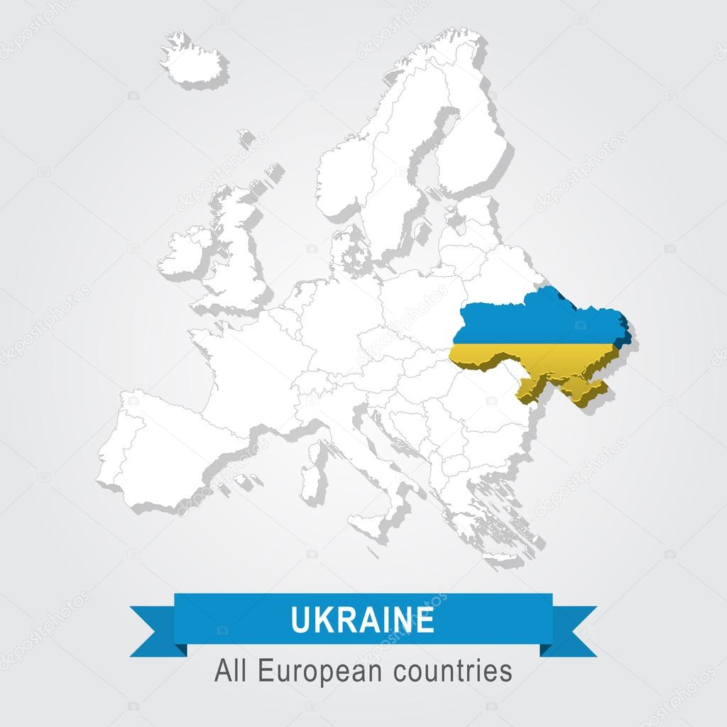 Ukraine Europe administrative map Stock Vector Snyde 98294586