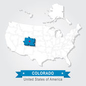 USA Map Puzzle One Stateone Puzzle Piece Colorado Denver - Usa map denver colorado