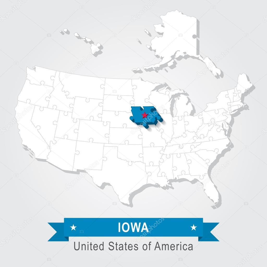 Iowa State University. Administrative Karte der USA ...