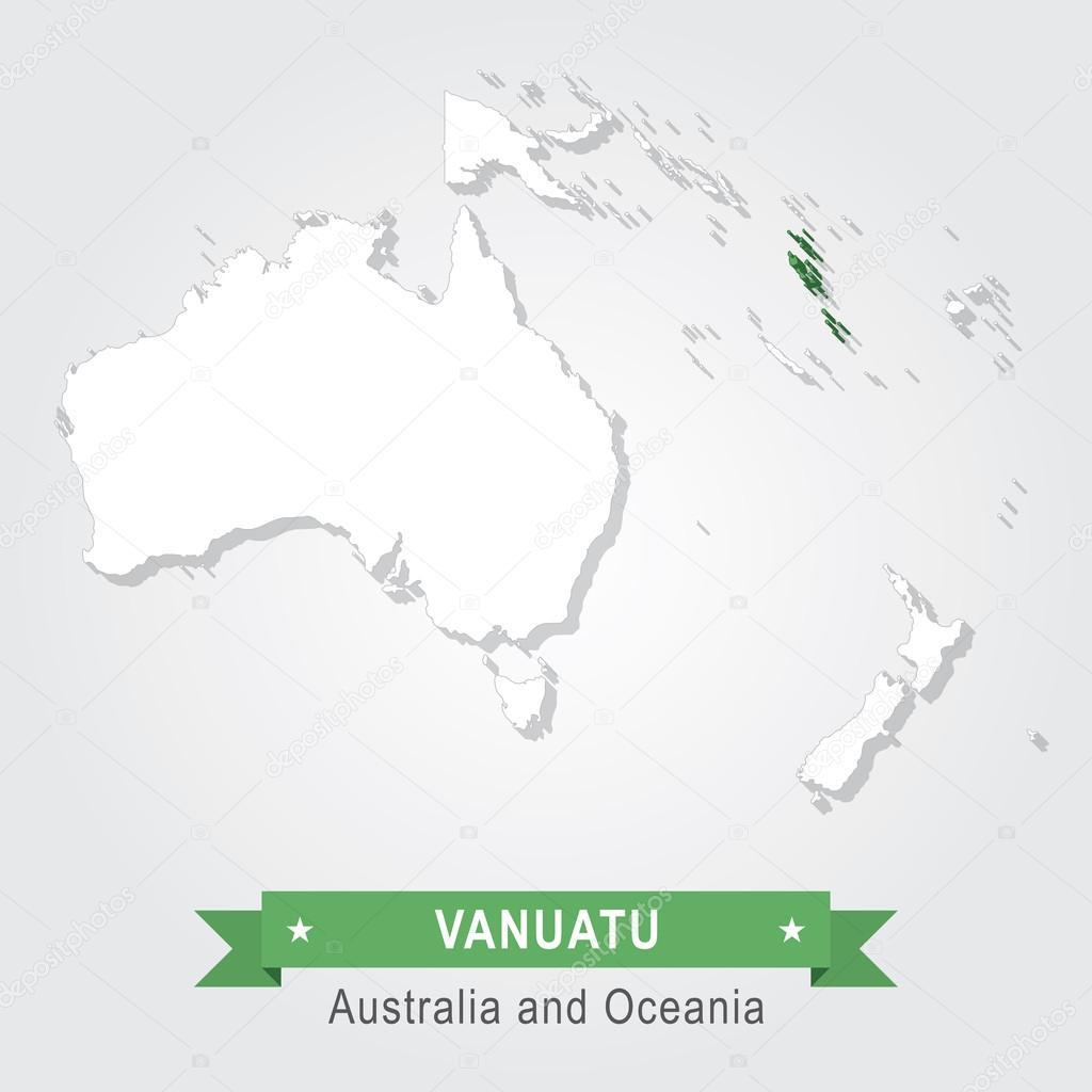 Vanuatu Australia and Oceania map Stock Vector Snyde 99331570